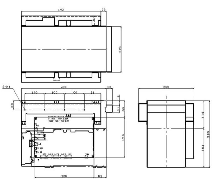 Fujitsu F400 Dimensions