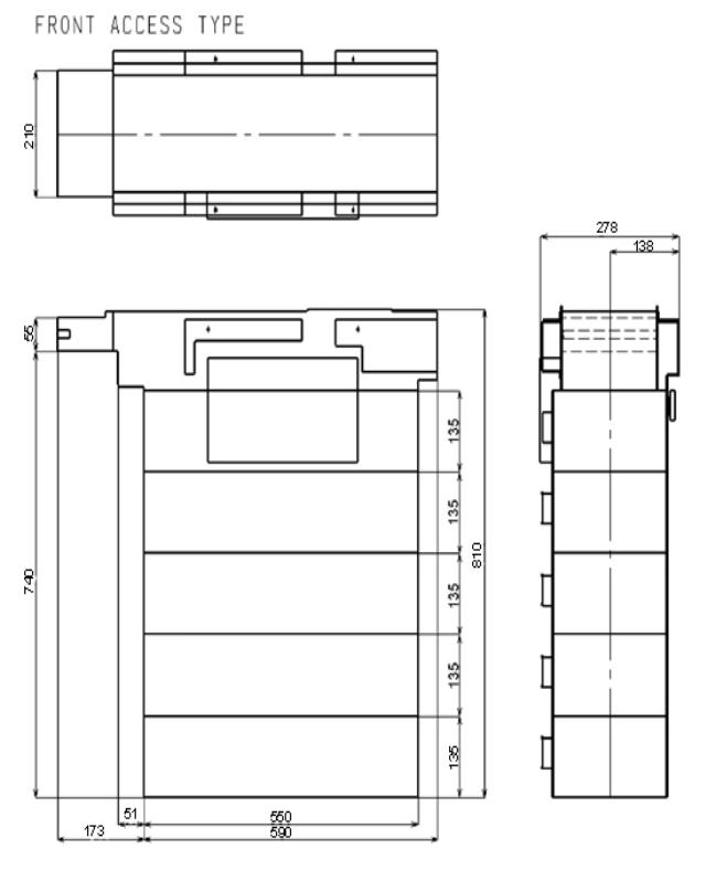 Fujitsu F510 Dimensions
