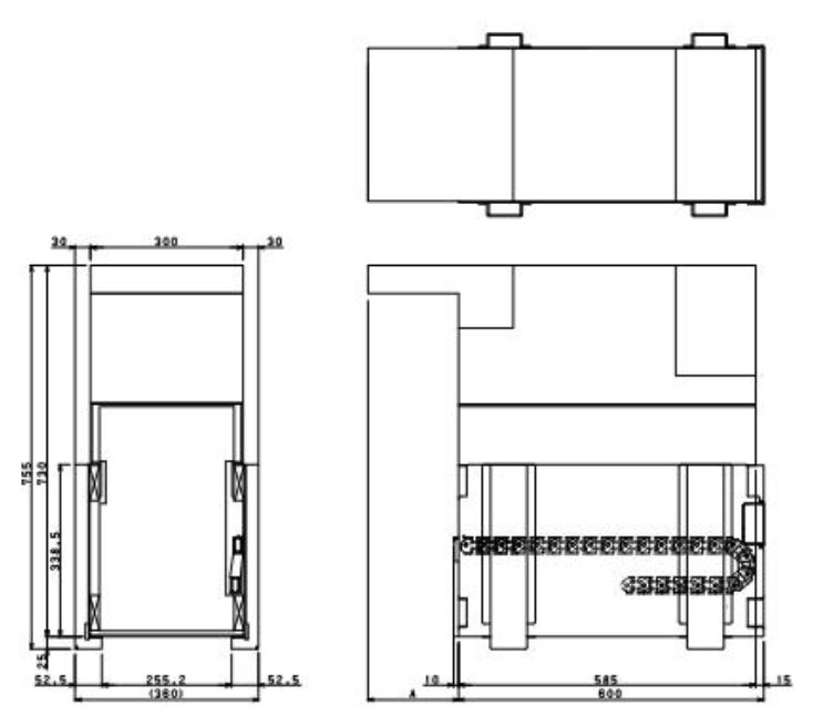 Fujitsu G610 Dimensions