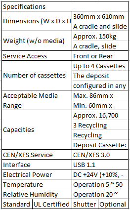 Fujitsu G611 Specifications