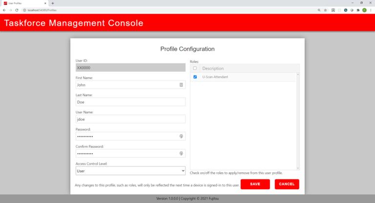 Profile configuration